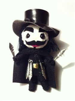 1 X Vendetta String Doll Voodoo Doll Keychain 2013 Model Limited Edition