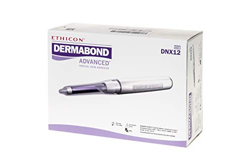 Ethicon DERMABOND ADVANCED Topical Skin Adhesive, DNX12, 0 7 mL Ampule of  High-Viscosity Skin Adhesive, Medical Supplies