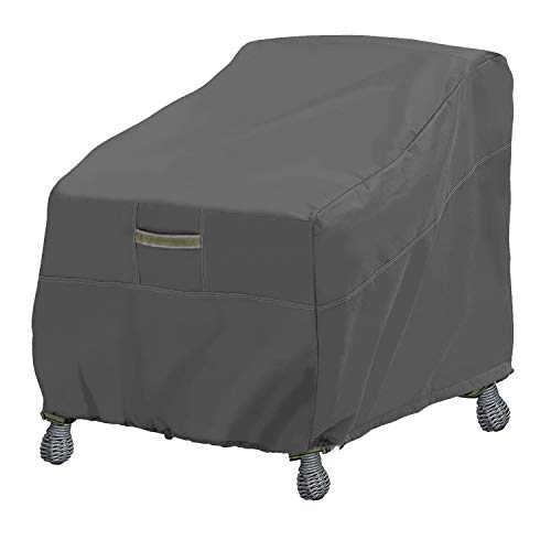 Leader Accessories Patio Chair Covers, Lounge Deep Seat Cover, Heavy Duty and Waterproof Outdoor Lawn Patio Furniture Covers-Dark Grey