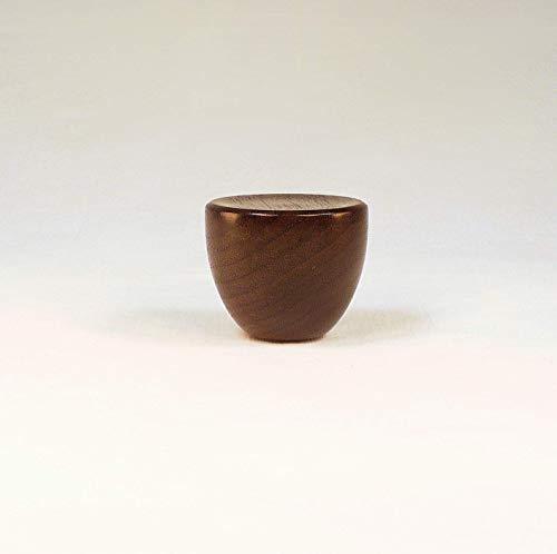 Lamp Finial, Black Walnut, Cup Pattern 4, Large