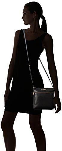 Michael Kors Riley Leather Flat Crossbody Black
