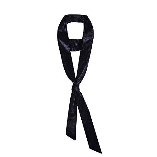 CHICOMP Vintage Velvet Skinny Scarf/Choker Neck Scarf Tie/Silk Ribbon Sash/Wedding Sash Bridal Belt/Handbag Handle Ribbon For Women,Multi-Color (Scarf Sash Silk Belt)