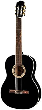 Salvador Cortez CC-10-BK - Guitarra clásica, tapa de cedro, aros y fondos sapelli