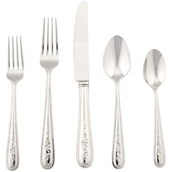 Amazon.com: Lenox Opal Innocence Flatware 5-Piece Place Setting ...