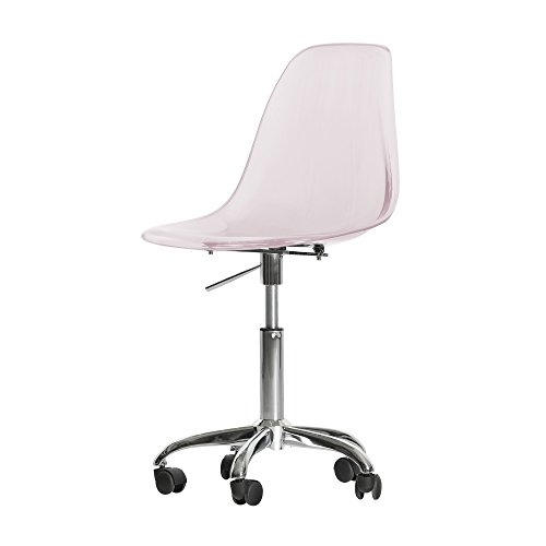 South Shore Annexe Acrylic Office Chair with Wheels, Clear P