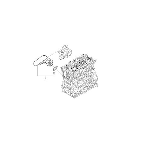 BMW Genuine Cooling System Water Hose Pipe E46 11537572158