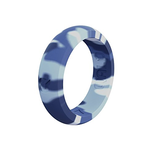 QALO - Anillo de Silicona Funcional para Mujer, colección Classic & Q2X, Q2X, Camuflaje ártico, Talla 9