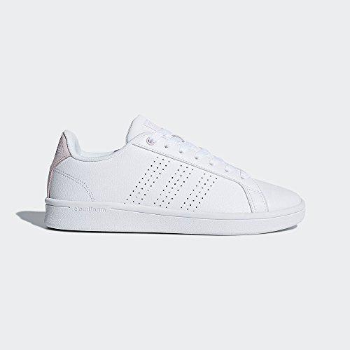 adidas Cl Cf Advantage White Pink Sneaker Women's Aero White rfBAqwr6x