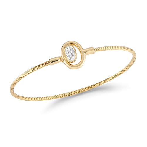 I. Reiss 14K Yellow Gold 0.1ct TDW Diamond Accent Concentric Oval Wire ()