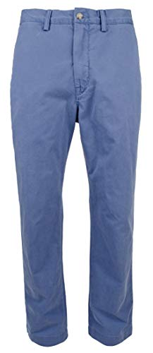 (RALPH LAUREN Polo Men's Classic Fit Cotton Chino Pants, Haven Blue (34x34))