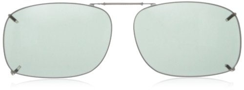 Solar Shield Clipon Rectangular 1 56 Polarized Sunglasses ,Gunmetal,56 - Sunglasses Women For 1
