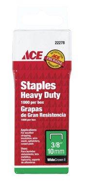 Crown Ace Hardware - Heavy Duty Staple 3/8 Wide Crown ACE Staple Guns 22278ACE 082901222781