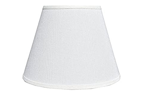 White Linen Lamp Shade (Spider) Small Desk, Table or Bedside Light Cover | Modern Home or Bedroom Decor | Easy to Install | 5