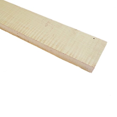 Bass Neck Blank - Curly Maple - 850x85x30 mm. by Guitar tools USA