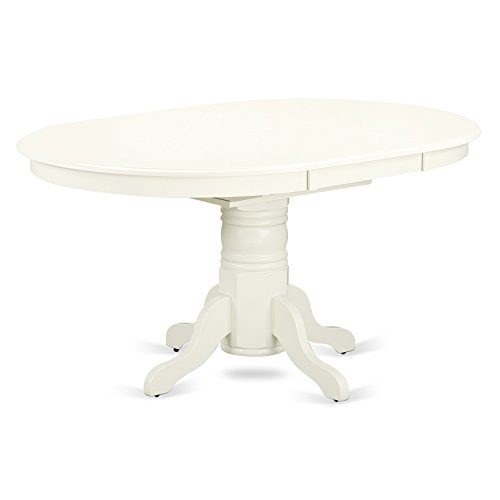 (East West Furniture AVT-LWH-TP Avon Oval Table with 18