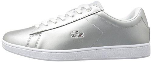 Lacoste Women's Carnaby Evo 117 3 Fashion Sneaker, Grey, 7.5 M US