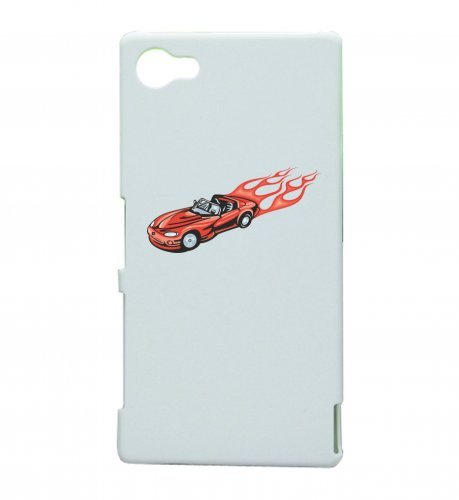 "Smartphone Case Apple IPhone 5C ""Roter Cabrio Sportwagen mit roten Flammen America Amy USA Auto Car Luxus Breitbau V8 V12 Motor Felge Tuning Mustang Cobra"" Spass- Kult- Motiv Geschenkidee Ostern Weihn"