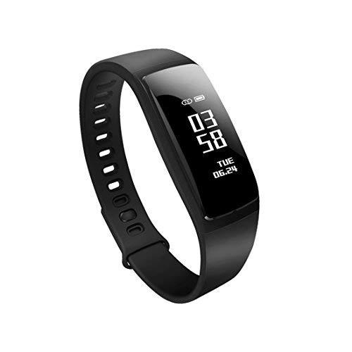 Gespert Fitness Tracker,Wireless Activity Tracker,Waterproof Smart Band Pedometer for Health Monitoring, Sports Tracking, Remote Self-Timer,Sleep Analysis etc (Black)
