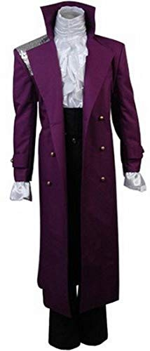 Purple Rain Prince Rogers Nelson Cosplay Costume Full Set (XL, Purple) ()