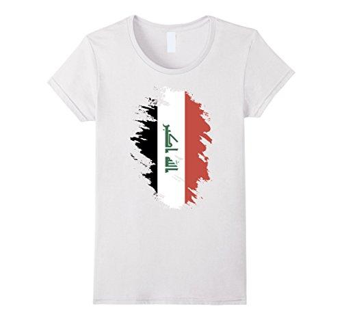 Women's Flag of Iraq T Shirt National Iraqi tee XL White