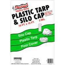 Ssc Cap - Film-gard Ssc-16 Plastic Tarp & Silo Cap, 16'x16', Black