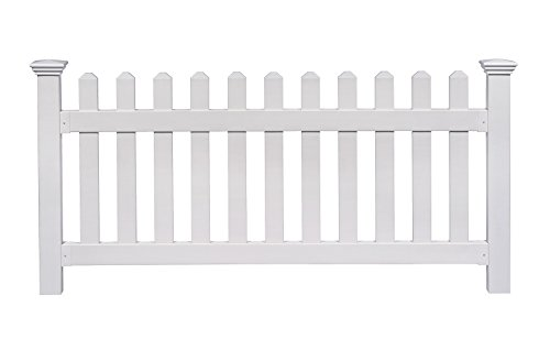 Fence White Picket House - Zippity Outdoor Products ZP19002 Fence Newport, 36