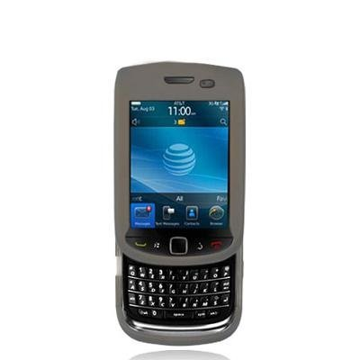 Smoke Silicone Rubber Gel Soft Skin Case Cover for Blackberry Torch 9800 Phone by Electromaster