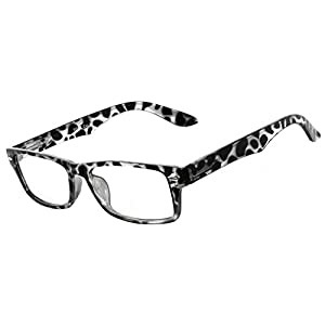 Narrow Retro Fashion Style Rectangular Leopard Frame Clear Lens Eyeglasses