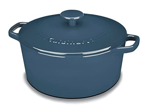 Cuisinart CI650-25BG Chef's Classic Enameled Cast Iron 5-Quart Round Covered Casserole, Provencal - Gas Oven Broiler