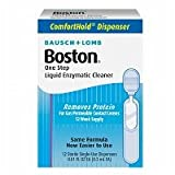 Boston One Step Liquid Enzymatic Cleaner, 12 dispensers, .01 oz - 2pc
