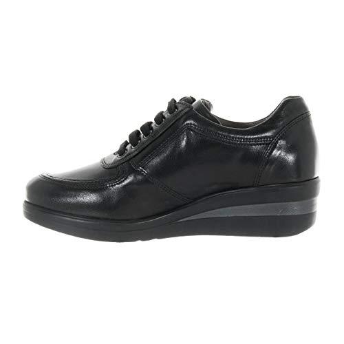 Giardini In Donna A806390d100 Nero Scarpe Sneaker Pelle SOwxnpqC