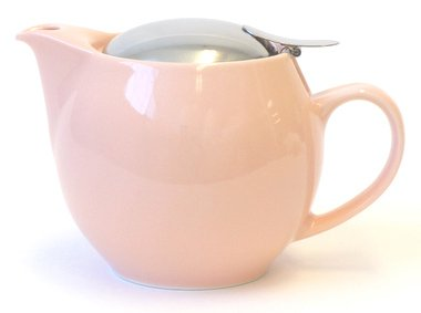 Bee House Ceramic Round Teapot (Pink)