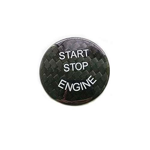 Huichi Carbon Fiber Car Engine Start Stop Button Cover Keyless Go Ignition Stickers for BMW 1 2 3 4 5 6 7 series F01 F06 F10 F20 F22 F30, X3 X4 X5 X6 F15 F16 F25 F26(F chassis, Black)