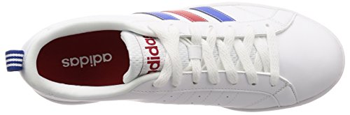 adidas Vs Advantage, Men's Running Shoes White (Footwear White/Blue/Power Red 0)