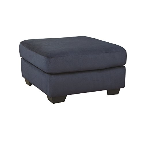 Ashley Furniture Signature Design - Dailey Contemporary Oversized Accent Ottoman - Midnight Blue