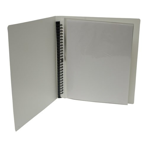 """JAM Paper Spiral Ring Display Book with Removable Pages - 8 1/2"""" x 11"""" - White - 48 pages - Sold individually"""