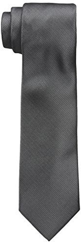 Wembley Men's Everyday Solid Tie, Grey, One Size