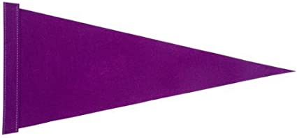 Purple Pennant Bicycle Safety Flag with Axle Mounting Bracket NEW 5 ft