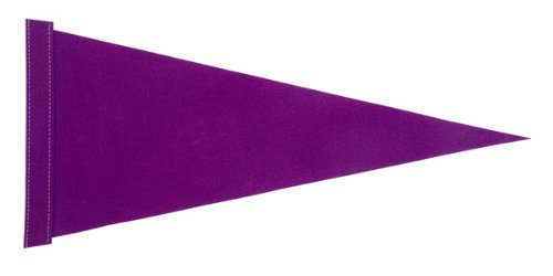 6 ft. Purple Pennant Bicycle Safety Flag with Rear Axle Mounting Bracket