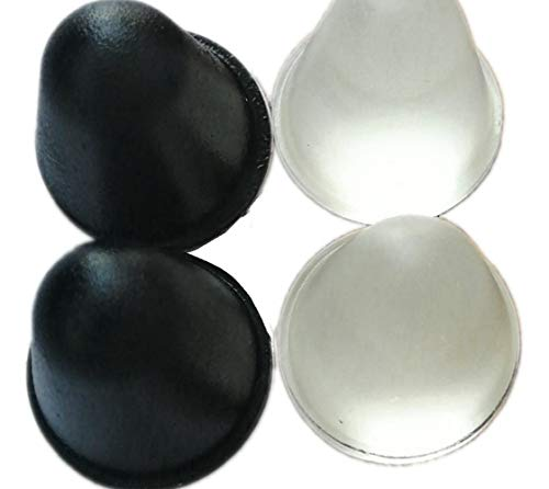 - Cone Shaped Clear Rubber Bumpers,Conical Rubber Bumpers Black,Tall Rubber Feet Spacers for Subwoofers, Roomba, Speakers, amplifiers, Laptops, Appliance. 8Pcs Black Bumpers and 8Pcs Clear Bumpers.