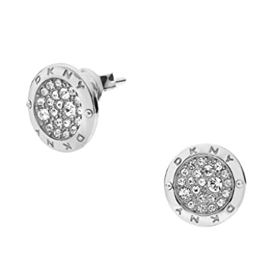 b37204577 DKNY Stainless Steel Stone Set Round Stud Earrings NJ2015040: Amazon.co.uk:  Jewellery