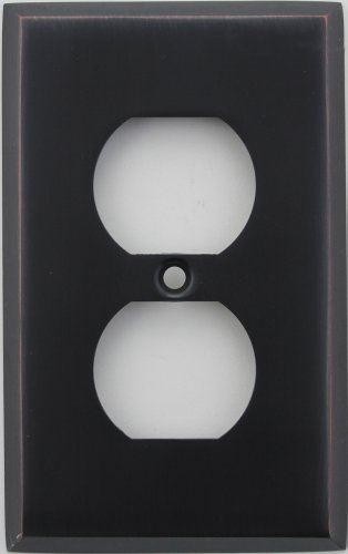Classic Accents Stamped Steel Oil Rubbed Bronze One Gang Duplex Electrical Outlet Wall Plate Duplex Electrical Accent Wall Plate
