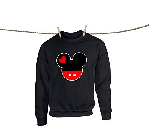 Natural Underwear Sweatshirts for Unisex Women and Men Mickey Mouse Head Disney Most Popular Shirts ()