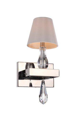 Zeev Lighting 1 Light Sophia Wall Sconce, 6 inch L x 15.5 inch H, Chrome, 6