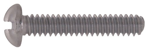 The Hillman Group The Hillman Group 1066 Chrome Plated Round Head Slotted Machine Screw 10/24 x 3/4 in. 36-Pack