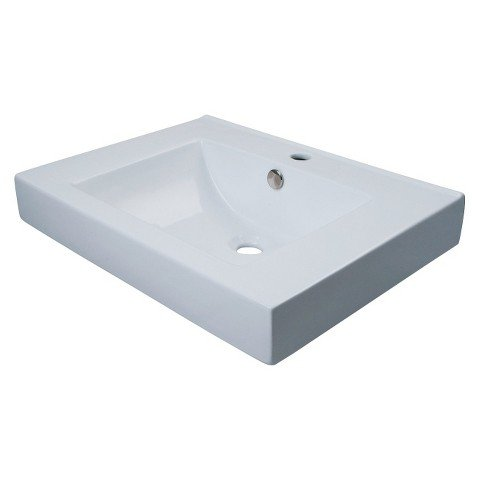 Wall Mount/ Table Mount Bathroom Sink by Wall