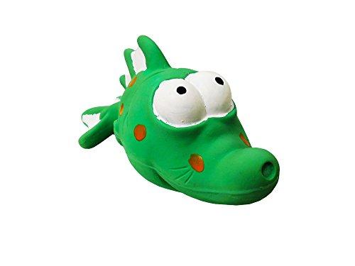 Premium Dog Toy | Latex Bug Eyed Green Fish | 7.25 Inch -