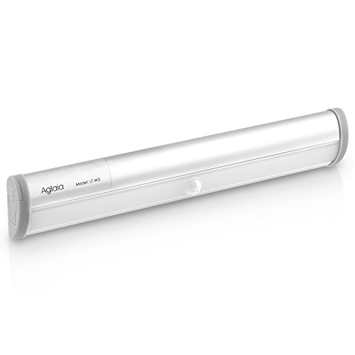 Aglaia LED Kabellos Schranklampe, automatische Innen-Sensorleuchte mit Bewegungsmelder, 10 Stück LEDs, Weiß Licht Sensor Lampe für Schrank, Unter-Kabinett, Wandschrank