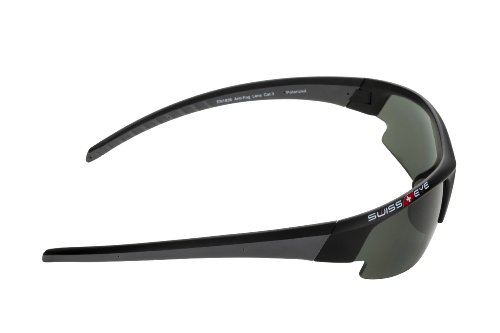 Swiss Eye Cobra Gardosa Evolution Lunettes de soleil de sport Noir Matt/Gun Metal - Smoke Polarised Lens