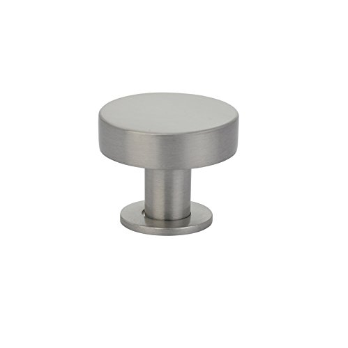 Emtek 86321 Cadet 1 Inch Diameter Mushroom Cabinet Knob from the Contemporary Co, Satin Nickel